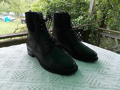 MENS PADDOCK BOOTS SIZE 9 LACED BLACK