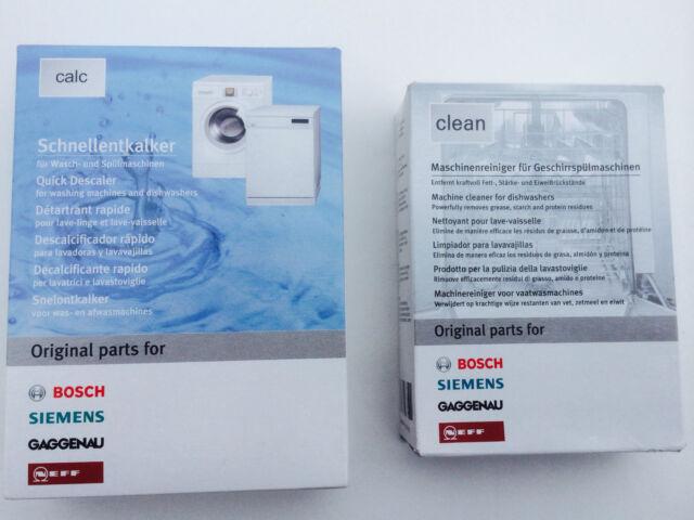 Bosch Dishwasher Cleaner and  descaler packs/311506/311313