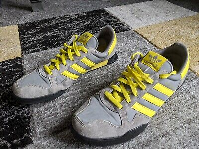 adidas Marathon 80 UK Size 10 EU 44.2/3 Grey/Yellow Trainers V21023 2012
