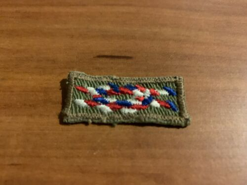 BSA, Vintage Eagle Scout Square Knot Award Patch, Green Twill, Cloth-back