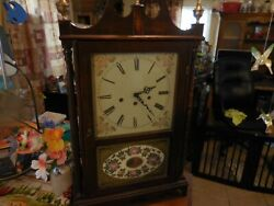 VNT Custom Wood Carving Mantel Clock With Brass Toppers W/Franz Hermle 351-020