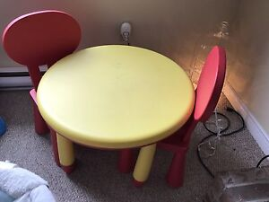 Child table and chair set.  From Ikea