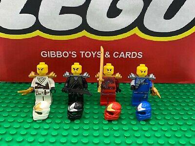 LEGO 4 MAIN ZX armour NINJAS minifigures NINJAGO KAI JAY COLE ZANE 9441 9449