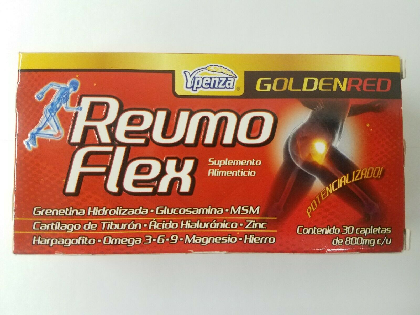 Reumo Flex GOLDEN RED Relieves Joints Artritis and Ciatica pain Articulaciones
