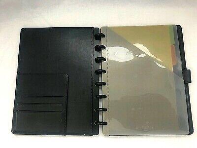Martha Stewart Discbound Notebook Staples Arc 6.5 X 9 Junior Black Leather