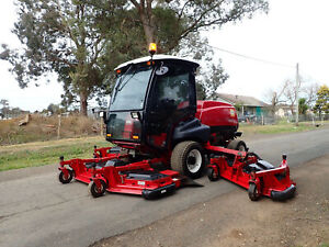 2014 TORO GROUNDSMASTER 5910 A/C CABIN DIESEL COMMERCIAL RIDE ON WIDE AREA WAM OUT FRONT LAWN MOWER Austral Liverpool Area Preview