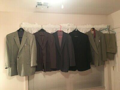 LOT OF 6 MENS XL JOS A BANK , PERRY ELLIS /  SUITS / SPORT JACKETS SLACKS & - Wholesale Suits Men