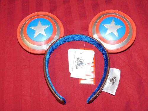 2021 Disney Parks Marvel Captain America Super Soldier Mickey Ears Headband New