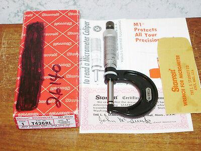 Starrett 0-1 Inch Micrometer No T436rl W Box