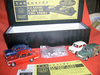 CC1004 VANGUARDS CLASSIC CARS OF THE 1960s AUSTIN FORD TRIUMPH AND MORRIS SET.