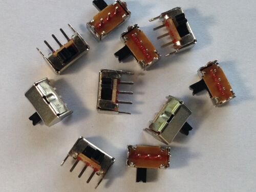 10 Pcs On/Off SPDT Right Angle Mini Slide Switch SK12D07VG3 1P2T 3-pin 2mm Pitch