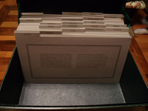 Banknotes of All Nations 53 Different Banknotes Information Cards & Display Box