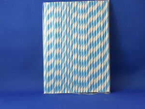 PAPER DRINKING STRAWS x 25 - multiple colours available in stripes