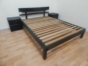 Queen size bed frame with side tables SYDNEY DELIVERY & ASSEMBLY Windsor Hawkesbury Area Preview