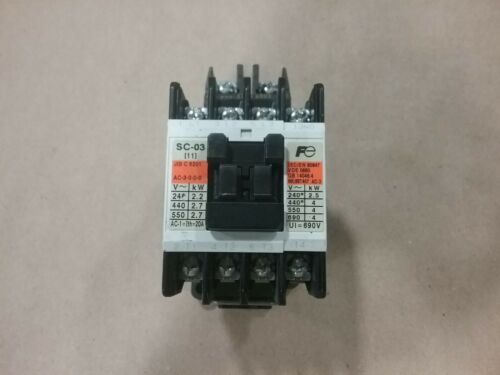 Fuji Electric FA SC-03 SC11AA Magnetic Contactor Continous Current 20A #01E54