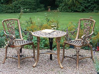 Garden Furniture - Patio Set Bistro Table and Chairs Garden Furniture Outdoor Vintage Style Bronze