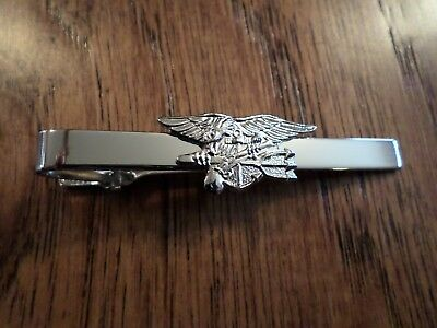 U.S MILITARY NAVY SEALS TIE BAR TIE TAC U.S.A MADE CLIP ON STYLE