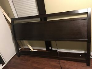 Tepperman's King Size Bed Frame Dark