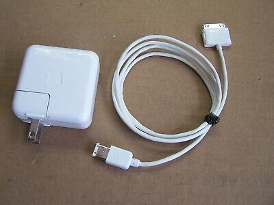 Apple iPod Nano Charger A1070 Firewire Cable 591-0192 Generation 1 To 4 OEM Ipod Nano Ac Adapter