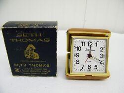 Vintage Seth Thomas Travel Alarm Clock No. 3805 #2