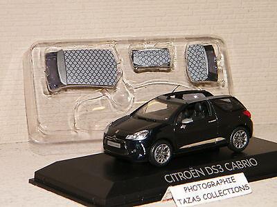 Citroën DS3 Cabriolet 2013 Schwarz Norev 1/43 Ref. 155287