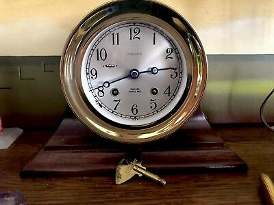 Collectable Tiffany & Co Chelsea Ship's Bell Clock 6