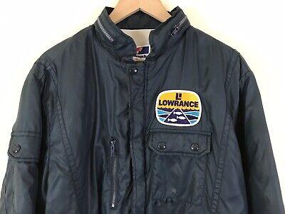 846356c9f854 VTG 80s Swingster Lowrance 5 Pocket Fishing Jacket w/ Stowaway Hood Size  Large