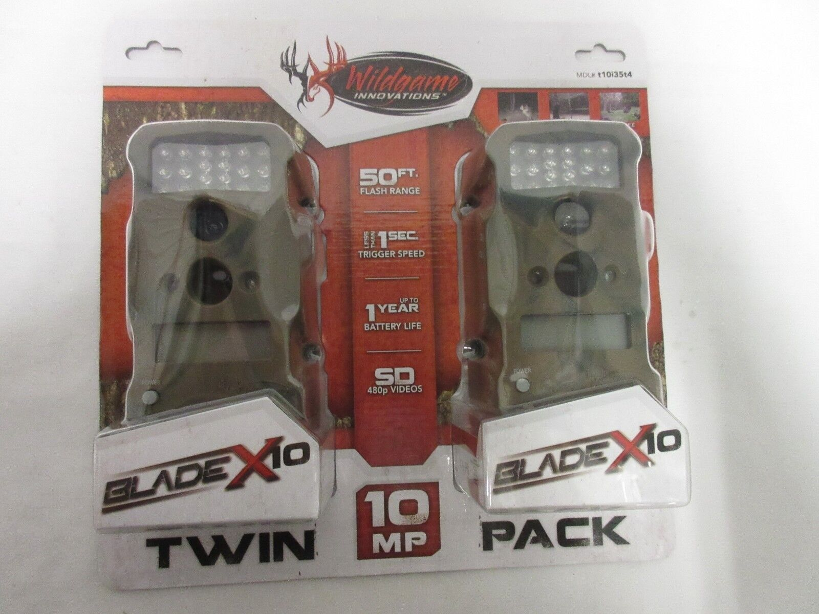 2 pack Wildgame Innovations Blade X10 Trail Camera t10i35t4