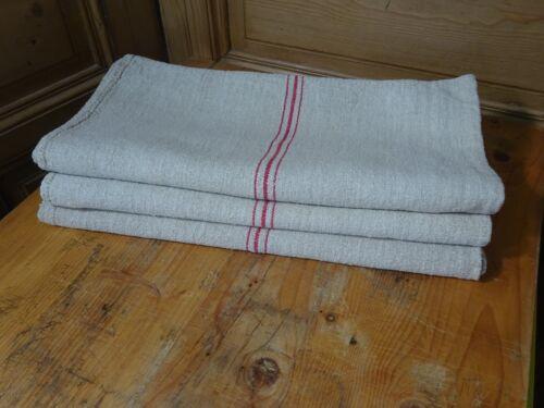 Antique European Feed Sack GRAIN SACK Red Stripe # 10226