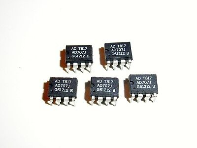Analog Devices Ad707j Ultralow Drift Op Amp 5 Pcs