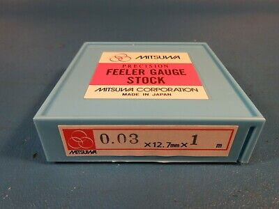 Mitsuwa Feeler Gauge Stock 0.03 X 12.7mm Wide X 1 Meter Long Starrett