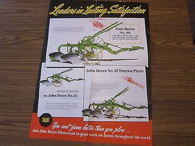 John Deere 4b 51 52 Tractor Plows Dealer Brochure Flyer 1940 Lots More Listed