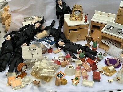 Lot Of Vintage Dolls House Furniture Mixed Lot Needs TLC