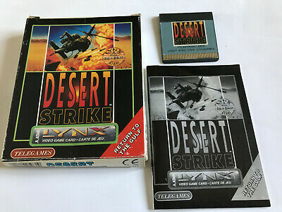 Desert Strike / Rare / Boxed With Instructions / Atari Lynx Game