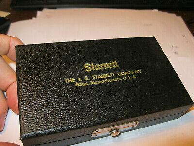 Starrett 700a Inside Micrometer .200-1.200 W Case .001 Machinist Tools