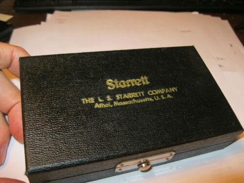 "STARRETT 700A INSIDE MICROMETER .200-1.200"" W/ CASE .001 MACHINIST TOOLS"