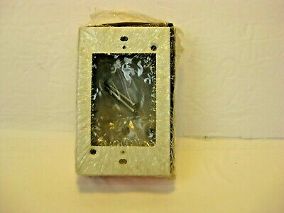 Wiremold Company V5747 1 Gang Box Ivory Receptacle Shallow Switch 38106 New Torn