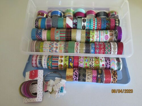 Washi Tape Lot of 94+ Rolls - New & Used - Various Makers & Designs