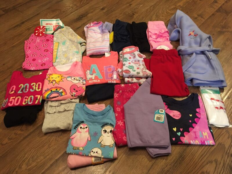 Nwt~toddler Girl Clothes Size 12-18 Months~fall/winter~lot Of 22 Pcs~disney &