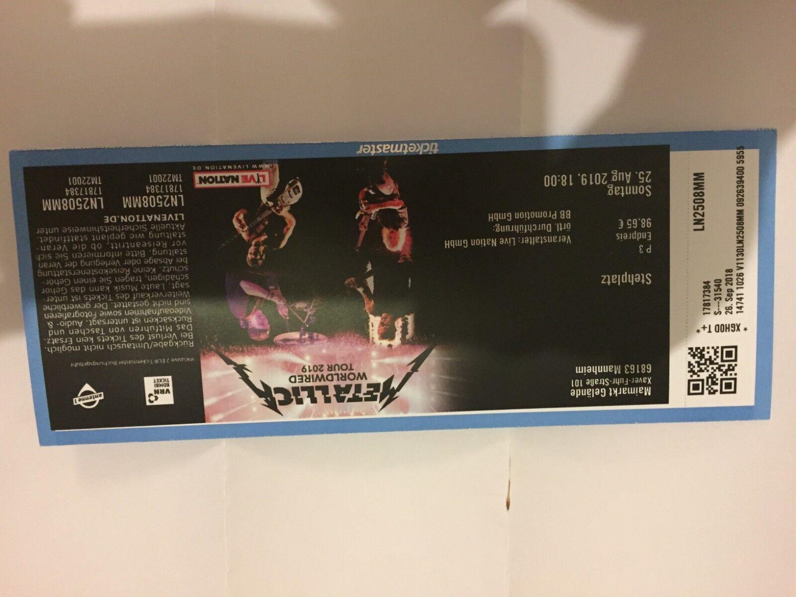 Metallica Ticket