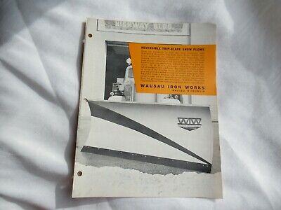 Wausau Trip-blade Snow Plow Brochure