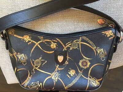 Vintage Mark Cross Equestrian Black Crossbody Bag