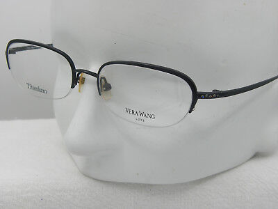 New VERA WANG Luxe Atmosphere Titanium Black semi eyeglasses    49-18-140   e812