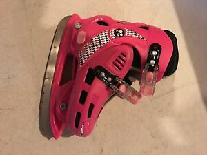 Adjustable ice and roller skates for girls (size 12-2)