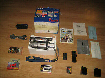 Sony CCD-TRV65 XRAY Hi8 8MM Camcorder with complete kit. JUN 1998. MADE IN JAPAN