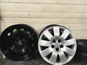 Toyota winter rims and hubcaps 15""