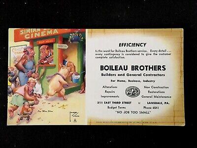 c1950's Artist Lawson Wood, Boileau Brothers Vintage Advertising Ink Blotter
