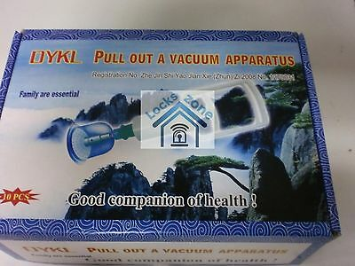 10 HIGH QUALITY CUPS & PUMP VACUUM CUPPING DRY& WET ACUPUNCTURE THERAPY (HIJAMA)