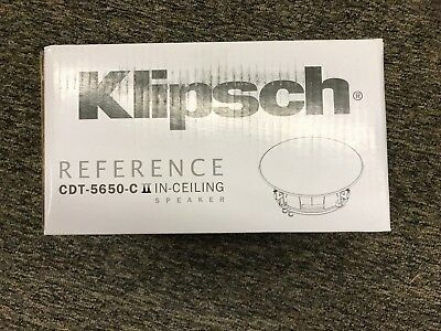 Klipsch CDT-5650-C II  Stereo In Ceiling Speaker (Sold as Each) Brand New!