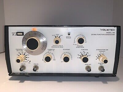 Wavetek Model 143 20 Mhz Function Generator